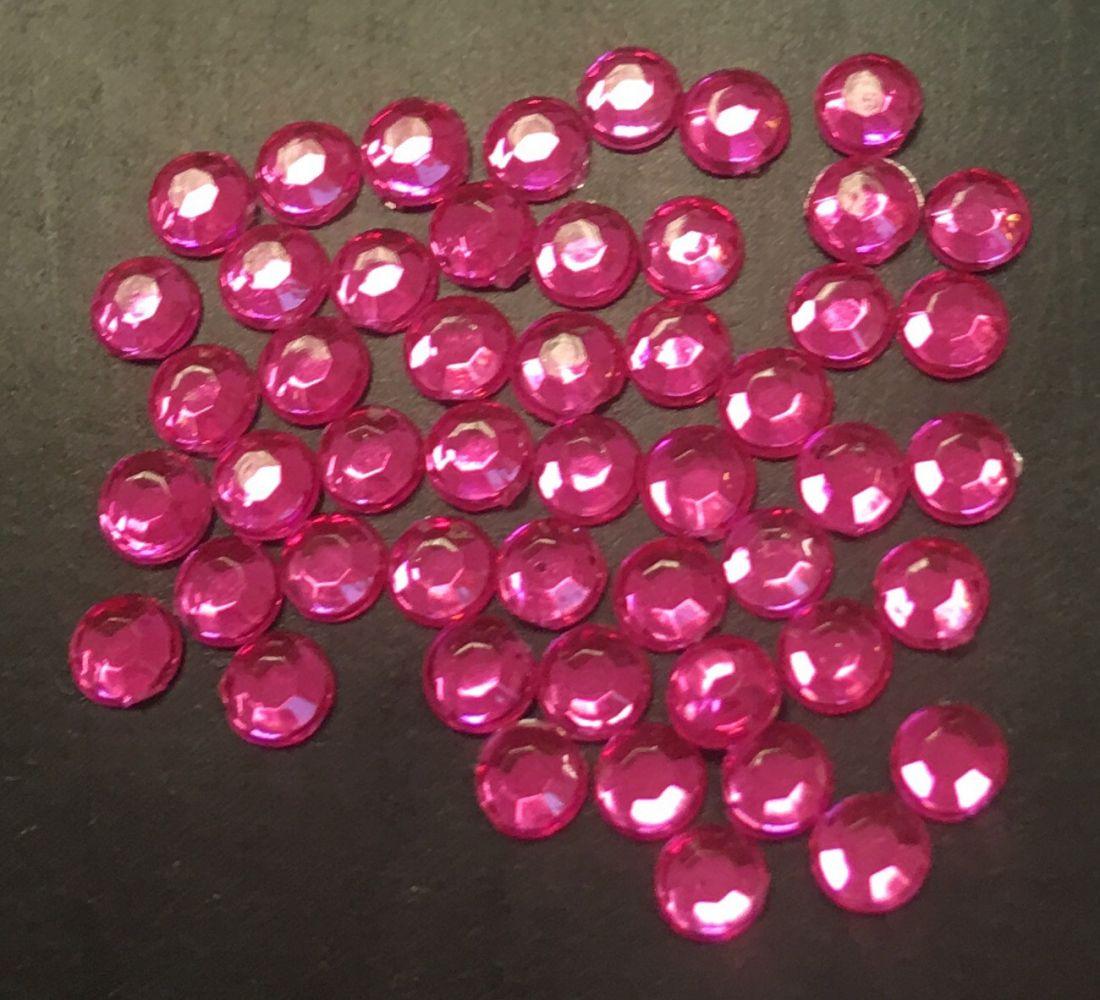 Стразы пластиковые 2,86мм уп/50 шт (PINK)