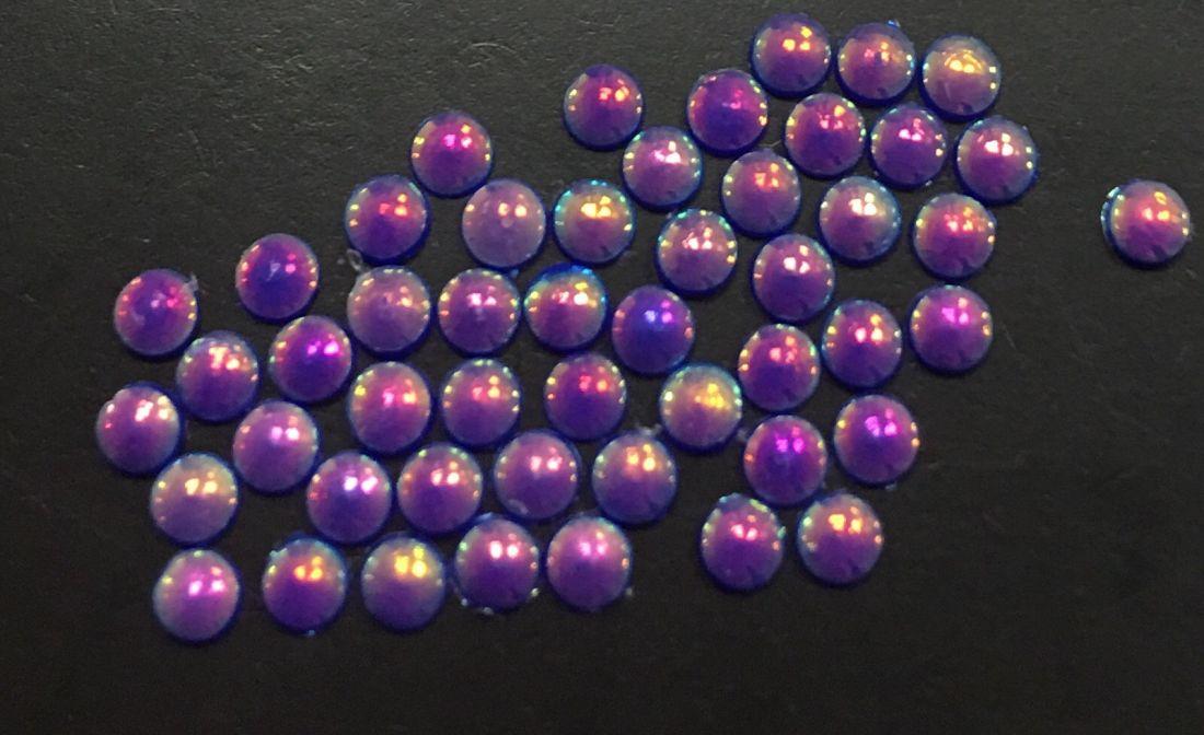 Стразы пластиковые круглые 2,5мм уп/50 шт (фиолетовый АВ)