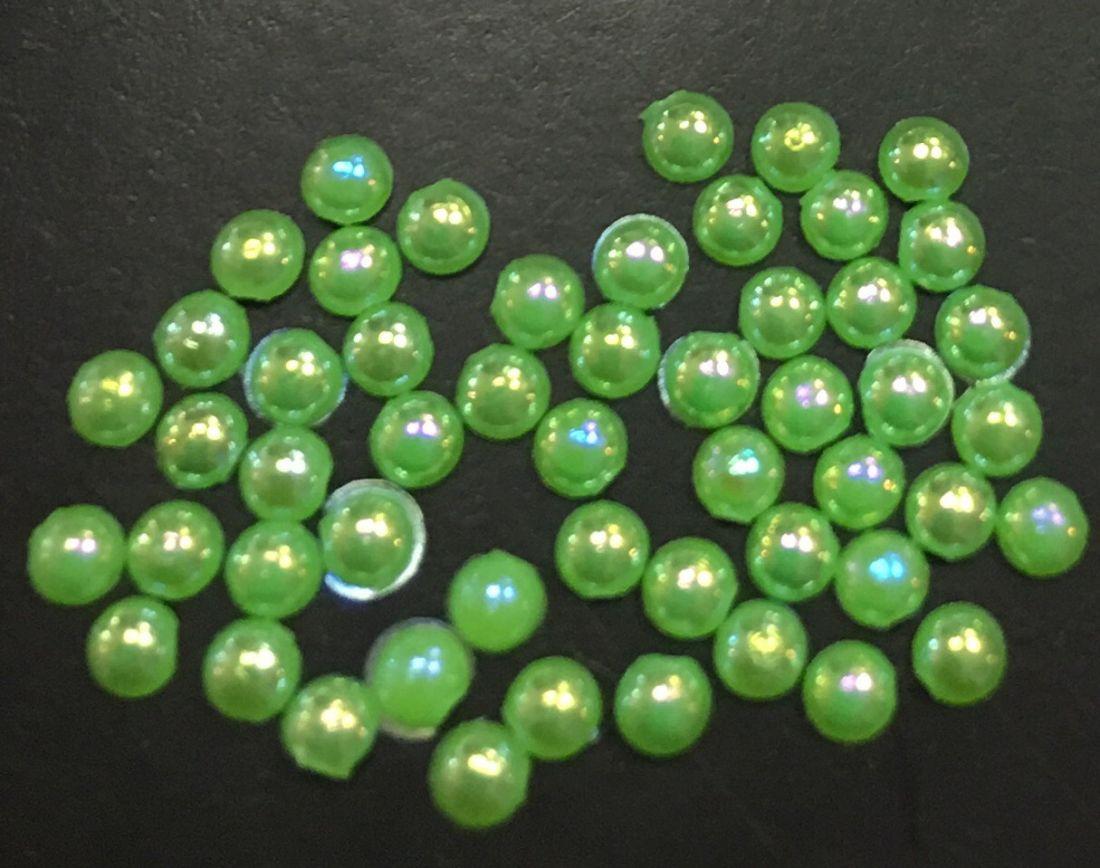 Стразы пластиковые круглые 2,5мм уп/50 шт (зеленый)