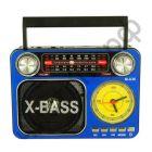Радиоприёмник сетев. Meier M-U36 , аккум.,батар. (USB,SD,AUX ) + фонарь + стрел.часы
