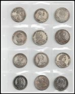 Лист с 12 монетами царского периода. Шикарные копии! №3