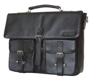 Кожаный портфель Carlo Gattini Fontevivo black