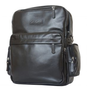 Кожаная сумка-рюкзак Carlo Gattini Reno black