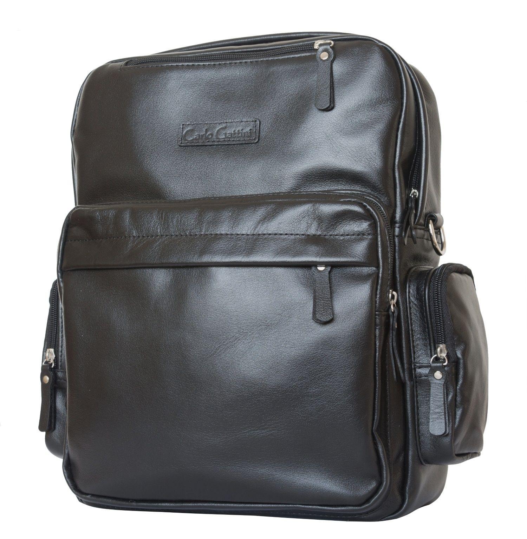 0afe4fbcd441 Кожаная сумка-рюкзак Carlo Gattini Reno black