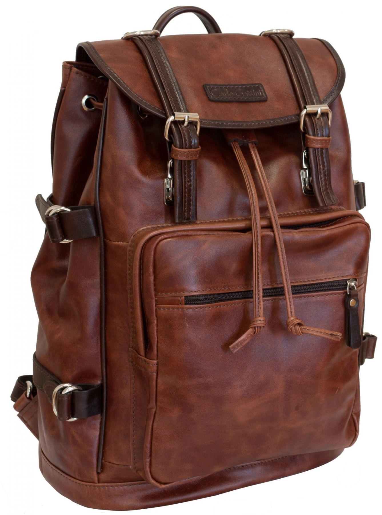 c9273efa6922 Кожаный рюкзак Carlo Gattini Volturno cognac/brown. ‹ ›