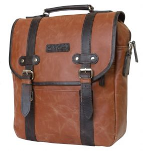 Кожаная сумка-рюкзак Carlo Gattini Tronto cognac/brown