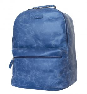 Кожаный рюкзак для ноутбука Carlo Gattini Tellaro blue