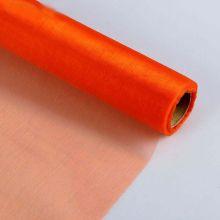Органза-снег в рулоне, оранжевый, 0,47*10 м