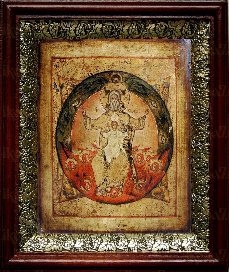 Новозаветная Троица (Отечество), темный киот