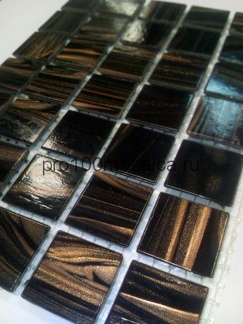 Sable Black GC45. Мозаика для бассейнов серия CLASSIC, вид МОНОКОЛОР,  размер, мм: 327*327 (ORRO Mosaic)