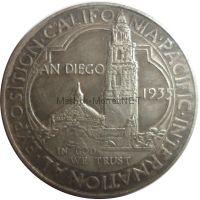 Копия монеты 50 центов 1935 года Международная тихоокеанская выставка в Калифорнии