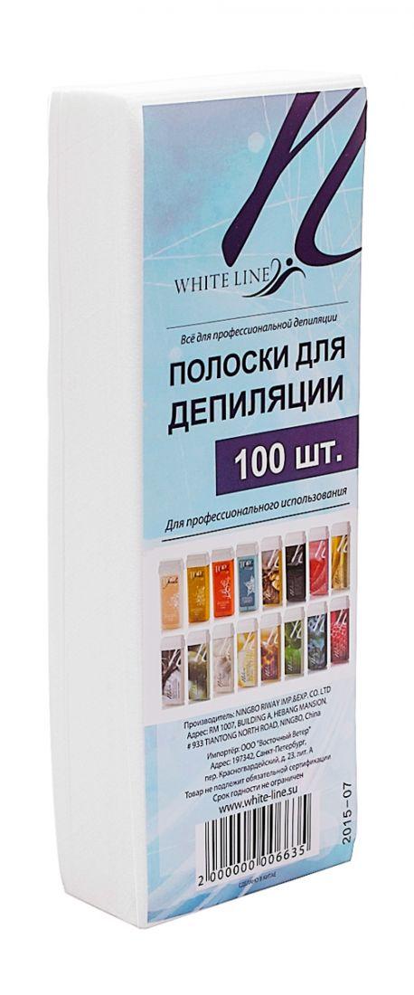 Полоска  для депиляции  7*20 White Line 100шт