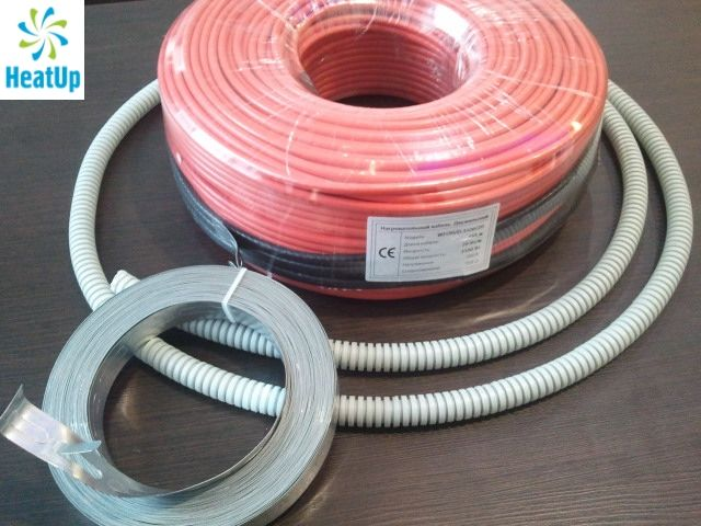 Нагревательный электрический кабель HeatUp 1800 Вт (длина 90 м)