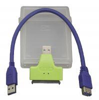 Кабель SATA-USB3.0 (конвертер + пластиковый бокс)