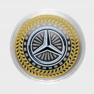 10 рублей Mercedes-Benz, серия автомобили мира, цветная,гравировка