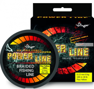 Шнур плетеный  Stinger PowerLine 150 м / цвет:Fl.Yellow