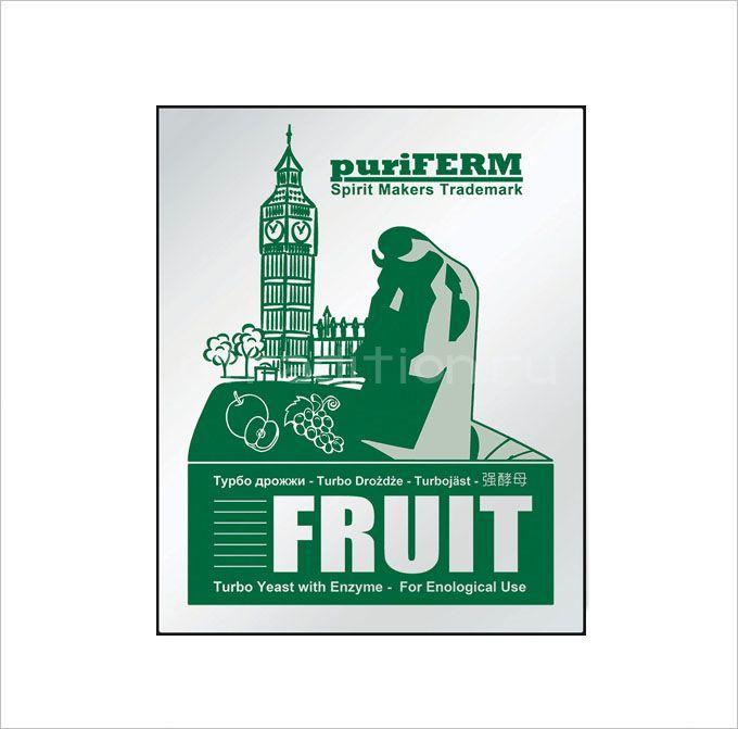 Турбо Дрожжи Puriferm Fruit для фруктовых браг, на 25 л. (Англия)