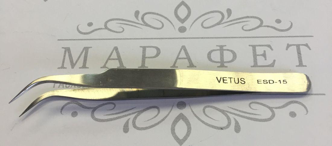 Пинцет для наращивания ресниц (скошенный, металлический)