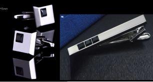 зажим для галстука и запонки,  модель 53