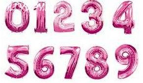 Фольгированная цифра (Фуксия)