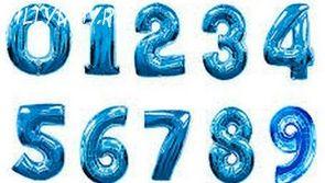 Фольгированная цифра (Синяя)