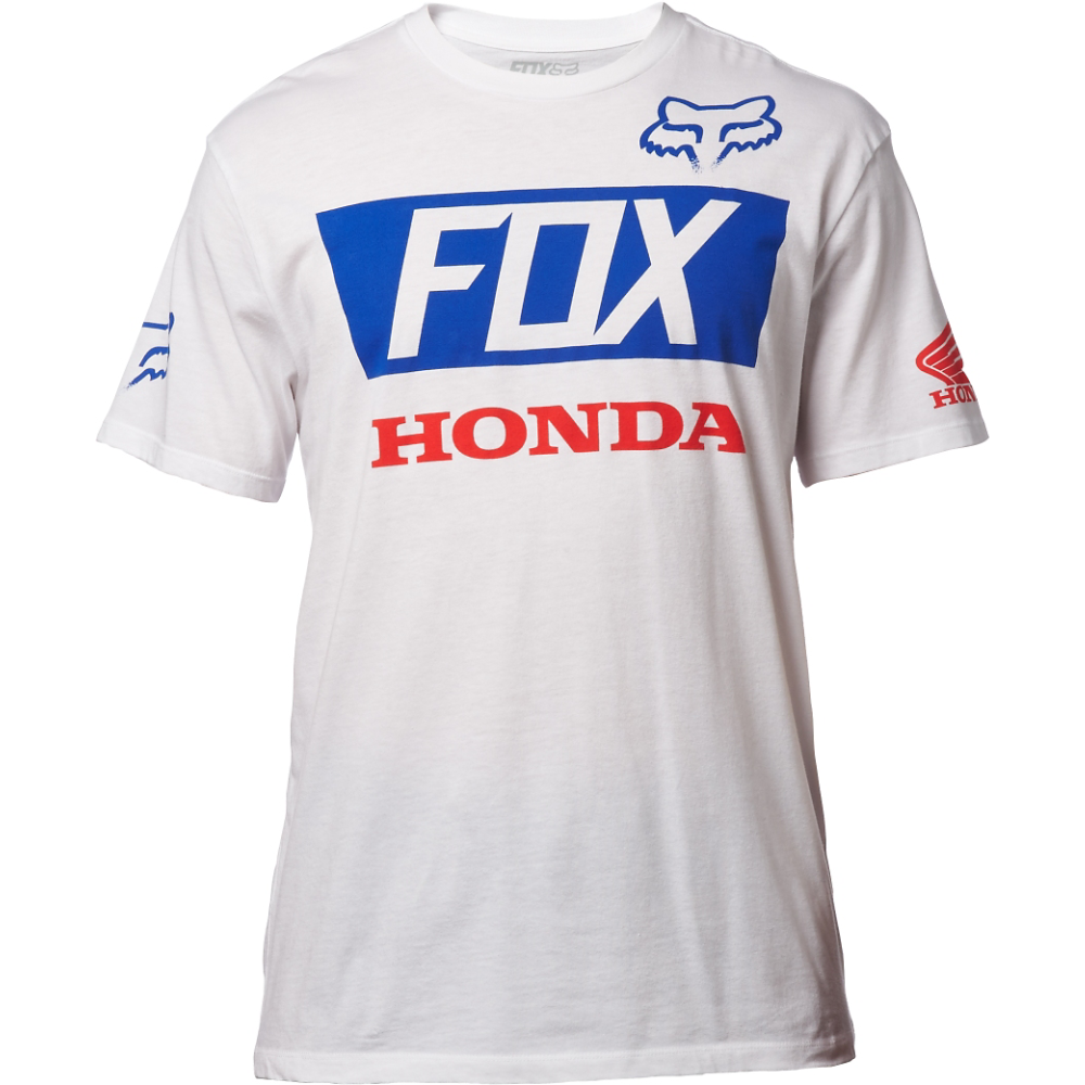 Fox - Honda Basic Standard Tee футболка, белая