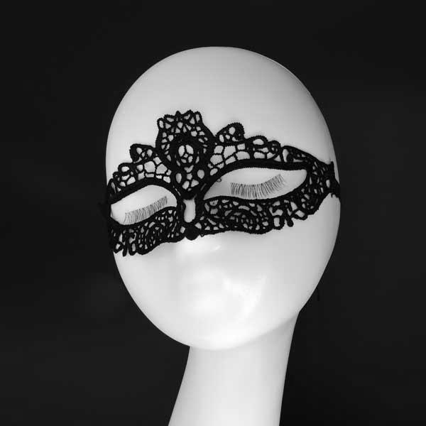 "Ажурная маска ""Черный ангел"""