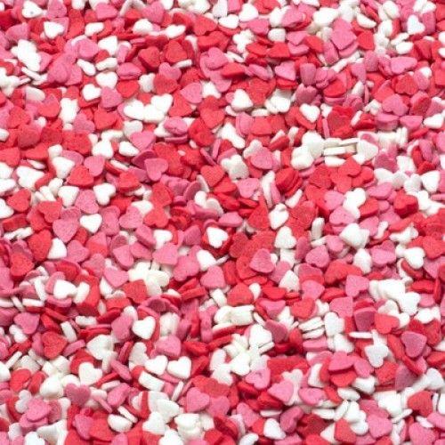 ВД Посыпка сердечки красно-бело-розовые 40 г