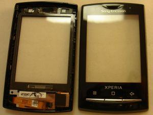 Тачскрин Sony Ericsson U20 X10 Xperia mini pro (в сборе с передней панелью)