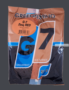 Прикормка Greenfishing G7 Ice Лещ красный 500 гр