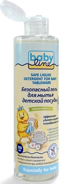 BABYLINE Безопасный гель для мытья детской посуды, 250 мл
