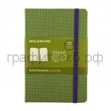 Книжка зап.Moleskine Pocket BLEND линейка зеленая LCBDMM710K