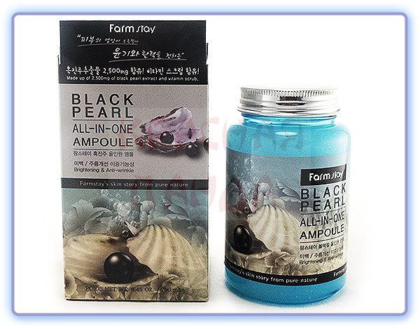Сыворотка с черным жемчугом Farmstay Black Pearl All-In-One Ampoule