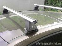 Багажник на крышу BMW 1-serie E81, Lux, аэродинамические  дуги (53 мм)