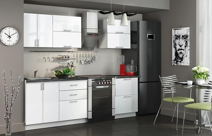 Кухня белая - эконом