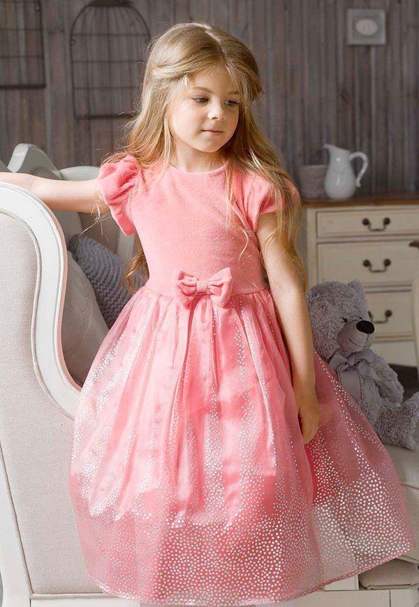 Мягкое праздничное платье для девочки 5 лет