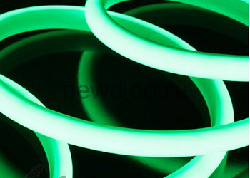 Термостойкая светодиодная лента SMD 2835 180LED/m IP68 24V Green
