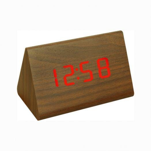 Часы эл. VST864-1 крас.цифры (ТЕМНО-коричневый)