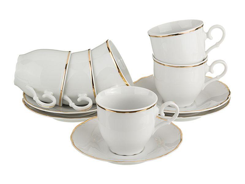 """Чайный набор на 6 персон """"Офелия 662"""", 12 пр., 190 мл"""