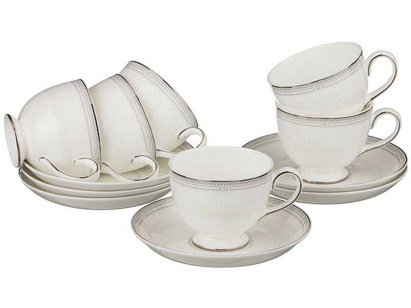 Чайный набор на 6 персон, 12 пр., 250 мл