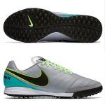 Шиповки-сороконожки Nike Tiempo Genio II Leather TF серые