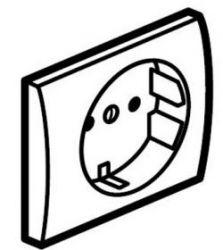 Накладка розетки с з/к со шт. Legrand Galea Life White (арт.777021)