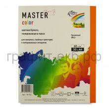 Бумага А4 50л.Master Color оранжевый OR43 80г/м2 16192