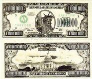 """Ненастоящие деньги """"Пачка 1 000 000 долларовых купюр""""  (арт. 13550)"""