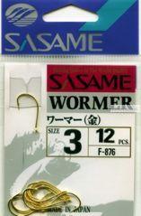 Крючок Sasame Wormer F-876 упаковка 12 шт