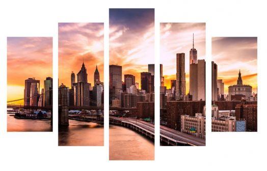 Модульная картина Урбанизация