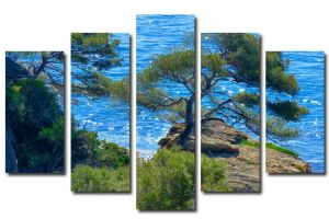 Модульная картина Дерево над водой