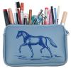 Пенал школьный с изображением лошади