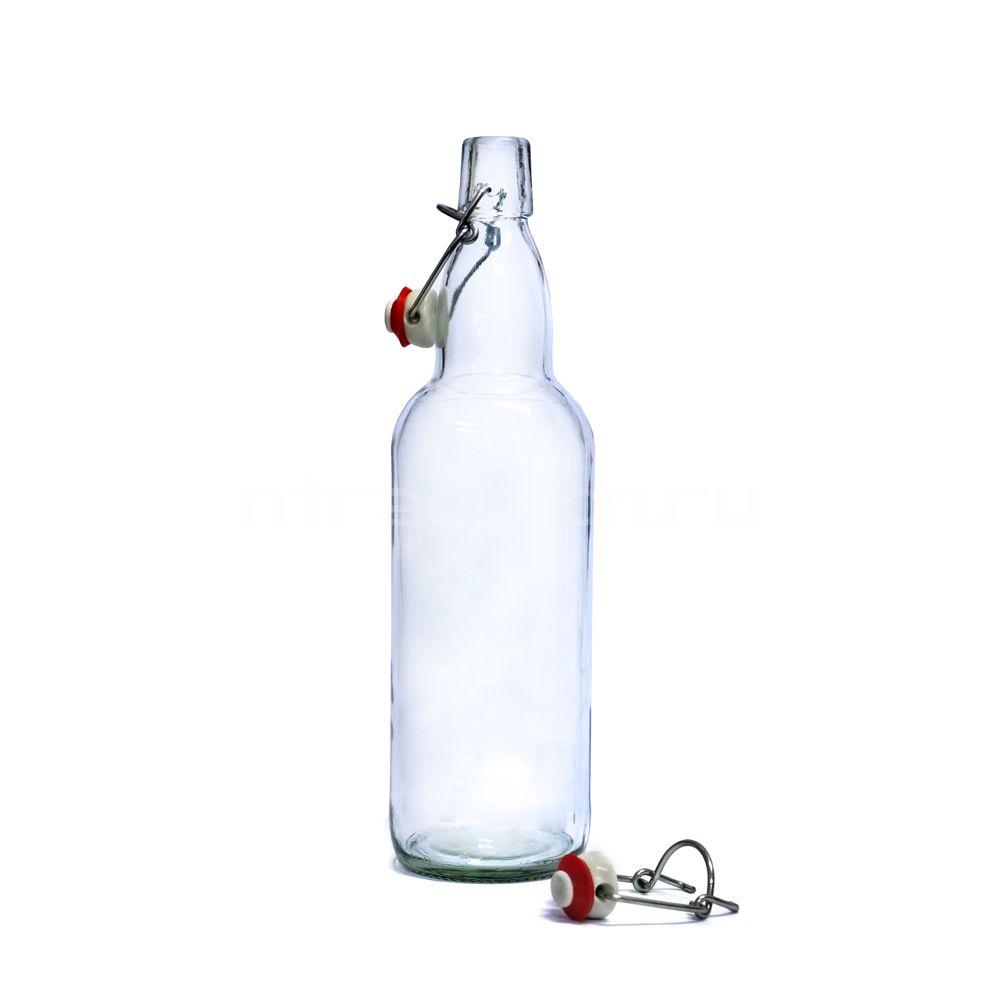 Прозрачная бутылка с бугельной пробкой 0,5 литра