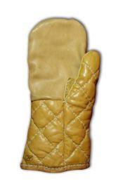 Варежки кожаные стеганые усиленные